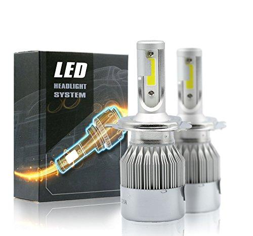 (Syneticusa H4/9003 LED High/Low Beam Headlight Conversion Kit Light Bulbs 100W 10000LM 6000K White)