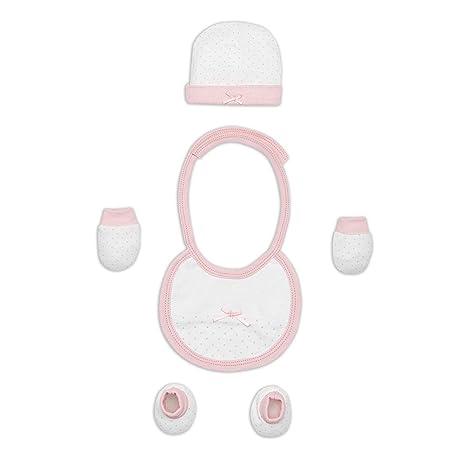 Set Primera Puesta 4 Piezas Rosa - Regalos Bebés MINDOO: Amazon.es: Bebé