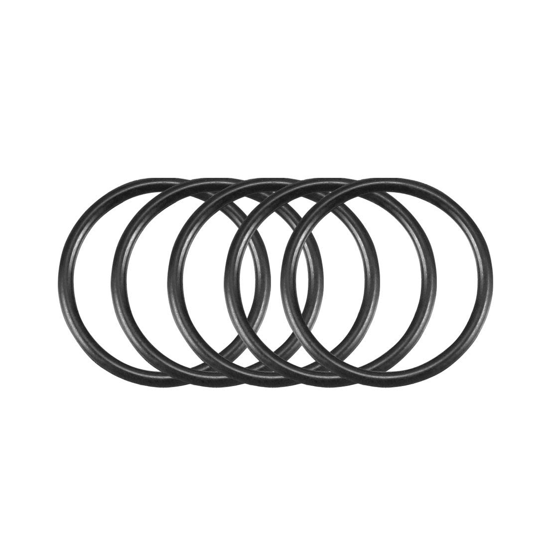 13mm OD 11mm ID 1mm Width Pack of 50 Metric Buna-N Sealing Gasket uxcell Nitrile Rubber O-Rings