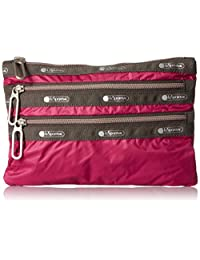 LeSportsac 2260-C092 Essential 3 Zip Pouch, Cherries Jubilee, One Size