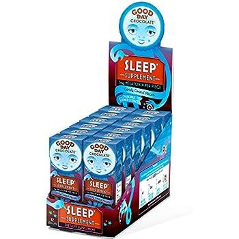 Good Day Chocolate Melatonin Supplement, Natural Sleep Aid 8 Piece (12 Pack)
