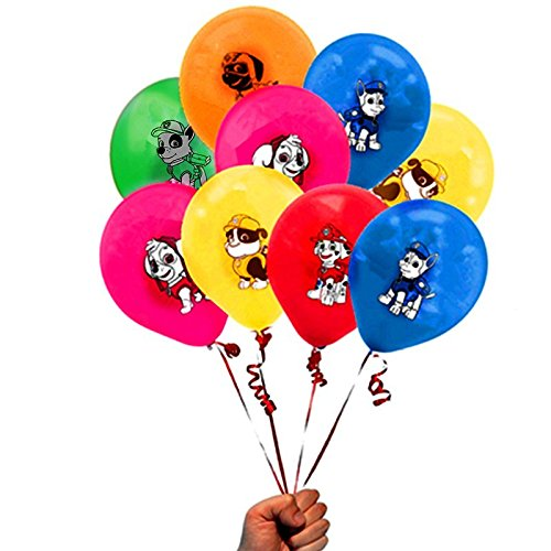 Merchant Medley 24 Count Paw Patrol Inspired Balloon Pack - Large 12 Inch Size Latex - Includes 6 Styles