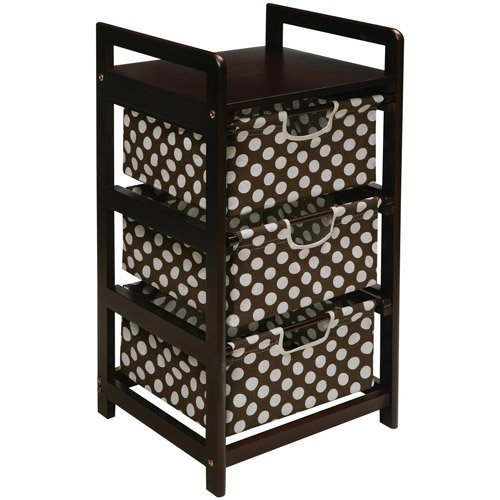 Badger Basket 3 Drawer Hamper Storage Unit  Espre