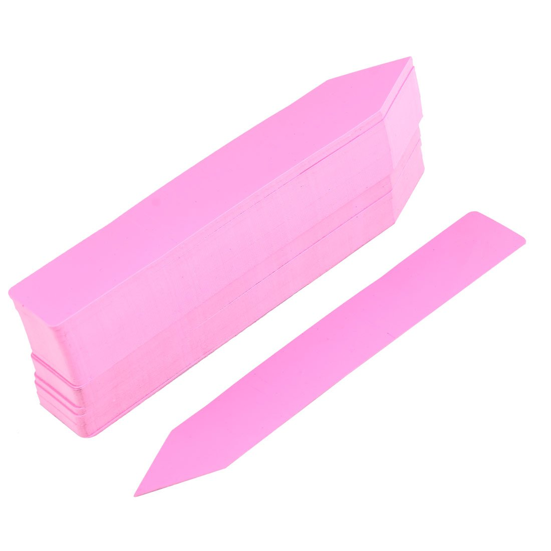 uxcell Plastic Windowsill Succulent Plant Cactus Roses Name Marking Sign Label 100 Pcs Pink