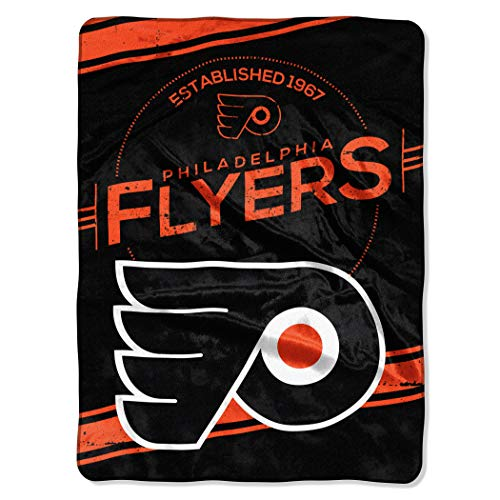 (The Northwest Company Officially Licensed NHL Philadelphia Flyers Stamp Plush Raschel Throw Blanket, 60