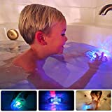 Bath Toys 4 Packs Waterproof LED Lights Multi Color Light Up Bathtub Toys For Girls And Boys,Led Lights for Party, Bathtub, Swimming Pool, Fishbowl, Christmas, Wedding, Halloween Pampkin by BabyKim