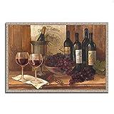 Tangletown Fine Art Vintage Wine Galería Envoltura, Marrón / marrón