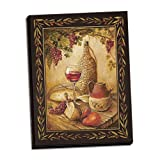 wine and cheese canvas - Gango Home Decor Canvas Tuscan Table - Lovely Classy Chianti Red Wine Spread; One Hand-Stretched 16x20 Canvas
