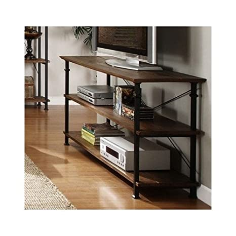 Amazon.com: Tribecca Home Industrial Tv Stand. This Stylish Furniture Is  The Perfect Addition To Any Room In Your House. Use It As An Entertainment  Center ...