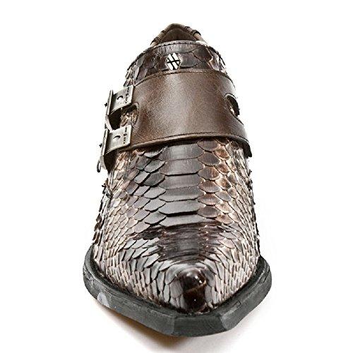 Uomini Nuovi Roccia Dallas Stivali In Pelle Marrone M.7934pt-s7 Marrone