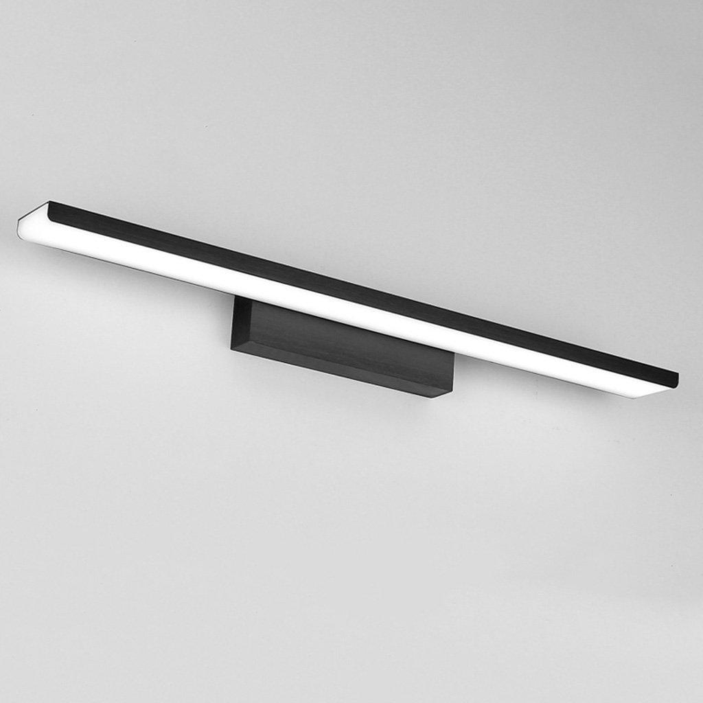 Simple Mirror Light LED, Anti-fog Bathroom Mirror Headlight, Bedroom Mirror Cabinet Light, Acrylic Wall Washer, Bathroom Wash Lamp, Aluminum Lamp Body(Black) (Size : L61cm white light)