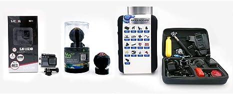 Pack Vision Elite - Cámara SJ CAM SJ6 Legend + Cámara 360 FLY (Voxx Electronics) + Kit de accesorios para cámaras de acción: Amazon.es: Electrónica
