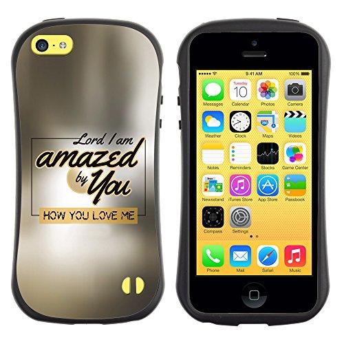 DREAMCASE Citation de Bible Silicone et Rigide Coque Protection Image Etui solide Housse T¨¦l¨¦phone Case Pour APPLE IPHONE 5C - LORD, I AM AMAZED BY YOU