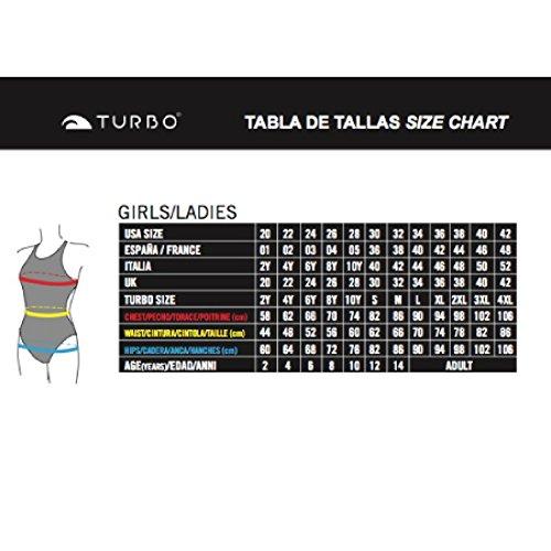Turbo - Bañador Mujer BANANO Tira estrecha doble capa Turquesa