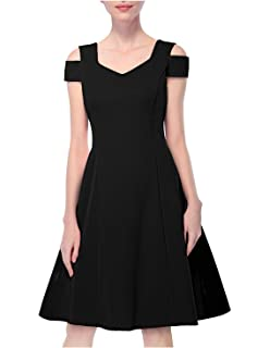 c7dc7e004df CHICIRIS Women s Cold Shoulder Fit and Flare Cocktail Party Skater Dress