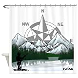 Fly Fishing Shower Curtain CafePress Nature Fly Fishing Shower Curtain Decorative Fabric Shower Curtain (69