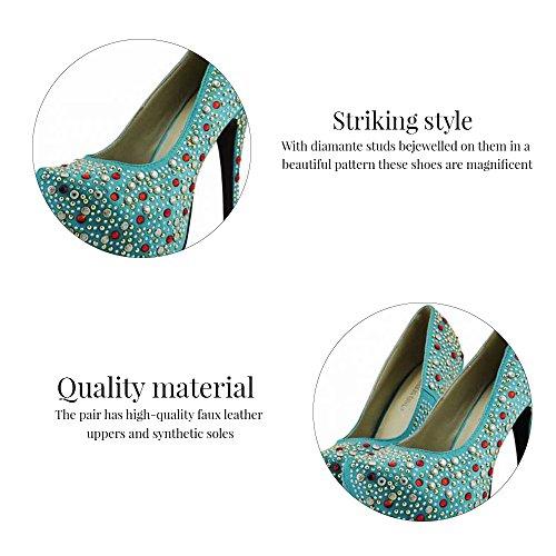b08e0926309e9c ... Trend Star Women Pumps Womens High Heels Platform Lace Party Pfennig  new pumps Stil 2 -