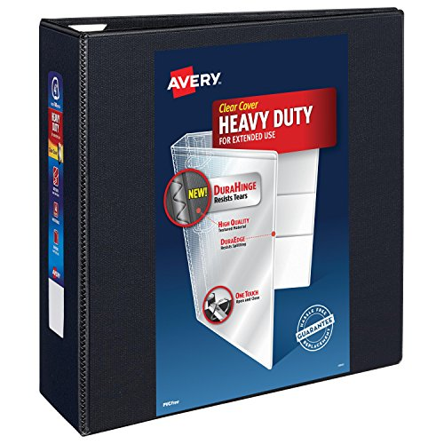 Avery Nonstick Heavy-Duty EZD Reference View 4 Inch Black Binder (4 In Binder)