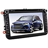 YINUO 2DIN 8 inch Quad Core 16GB 1024*600 Android 4.4.4 Autoradio for VW Volkswagen Golf /Tiguan / Jetta/Caddy /New Sharan/Passat/Bora /Polo /EOS/Toledo/Superb/Leon/Fabia /Magotan /Yeti /Scirocco/Lavida /Touran /Altea/Roomster/ Rapid /Sagitr / Praktik GPS Navigation with Bluetooth, Touchscreen, DVD-Player and USB/Mircro-sd support DVB-T-Box (DVB-HD)