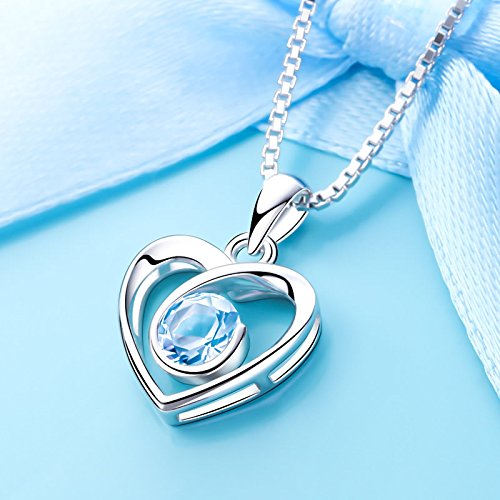 Generic Korean simple love long _section_of_the_ long -lasting_shine_and_delicate_ dress _with_ silver lettering pendant necklace (Dress Topaz Necklace)