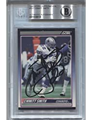 Emmitt Smith AUTO 1990 Score Supplemental RC XRC #101T Dallas Cowboys Rookie Autograph Football Card