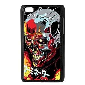 Generic for iPod Touch 4 Case Black Terminator Custom Theme HKLFJALDJ3660