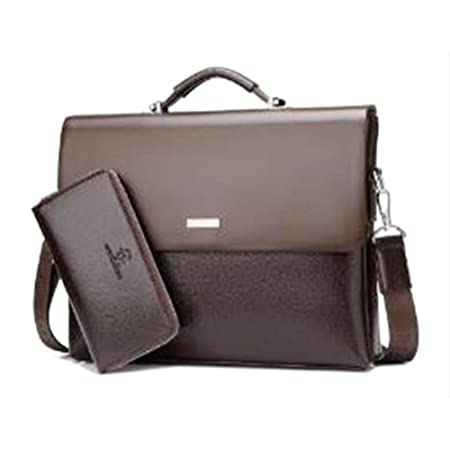0ce9b1468c5d03 CHNG Business Men Briefcase Bag Genuine Leather Black Luxury Designer  Laptop Bag Office Large Capacity Water-resistant Briefcase: Amazon.co.uk:  Kitchen & ...