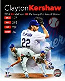 """Clayton Kershaw Los Angeles Dodgers 2014 NL MVP & 3X Cy Young Photo (Size: 8"""" x 10"""")"""