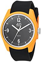 40Nine Men's 'Basic' Quartz Plastic and Silicone Casual Watch, Color:Black (Model: 40N2.6M)