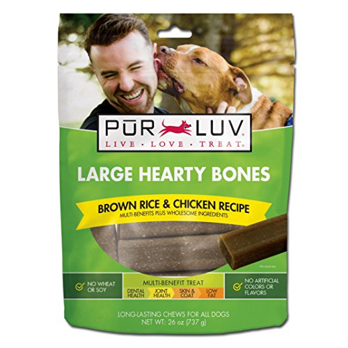Pur Luv Large Hearty Bones, Chicken Flavor, 26 Ounce