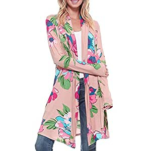 Womens Boho Irregular manga larga Wrap Kimono Cardigans Casual coverup abrigo Tops Outwear