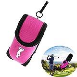 Zaptex Mini Golf Ball Golf Tees Holder Pouch Bag Multicolour Golf Fans Supplies (Pink)
