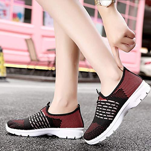 Maille 39 on Chaussures Femmes 36 Occasionnels Chaussures Souples GongzhuMM Slip Gym EU Chaussures de Mocassins Respirant Vin Du Course Danse Semelle de C0Uw8nxtqn