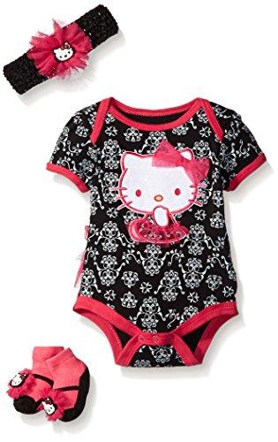 Hello Kitty Baby Girls' Gift Set, Black, 0-6 Months