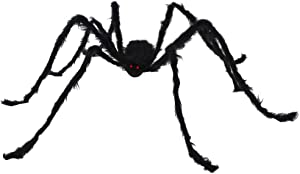 JOYIN 6.5ft Hairy Black Giant Spider for Halloween Outdoor Decorations and Party Supplies