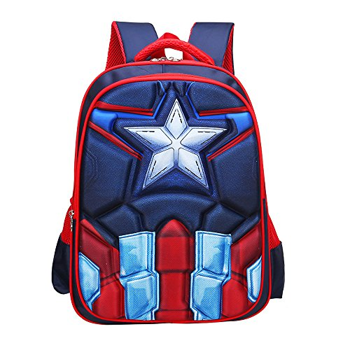 School Backpack for Boys Kids Schoolbag Student Bookbag Rucksack Waterproof Shoulder Bag Daypack with Anime Super Hero (A04, Small:15x11x4.7 in)]()