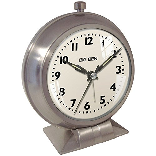 alog Metal Big Ben Alarm Clock, Silver ()
