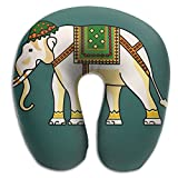 Laurel Neck Pillow India Treasure Elephant Travel U Shape Soft Comfortable Best Neck Support Perfectly For Airplane Sleeping