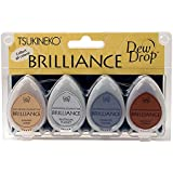 Tsukineko 4-Pack Brilliance Dew Drop Inkpads, Planetarium