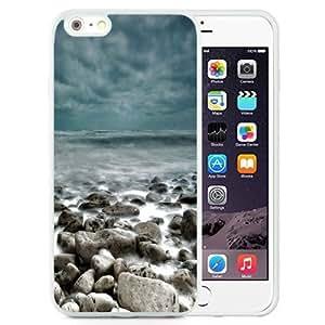 Fashionable Custom Designed Samsung Galaxy S5 I9600/G9006/G9008 Phone Case With Rough Sea Rocks Waves Lockscreen_White Phone Case Kimberly Kurzendoerfer