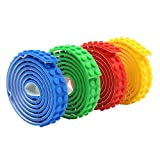 Building Block Tape Roll Self-Adhesive - Compatible with Major Brands Building Blocks,4 Colors 3 Feet of Each