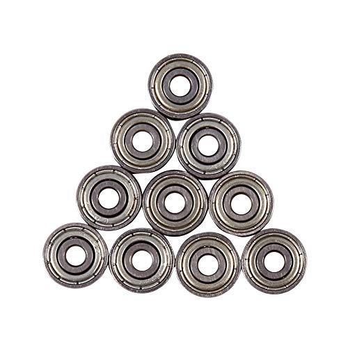 (10pcs 3x10x4mm 623ZZ Carbon Chromium Steel Shielded Metric Sealed Miniature Ball Bearings)