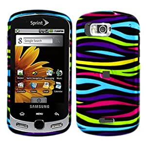 Multi Color Zebra Pattern Snap on Hard Skin Cover Case for Samsung Moment M900