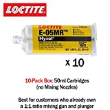 Loctite EA (Hysol) E-05MR Moisture Resistant Fast Setting Crystal Clear Epoxy - 50ml/1.7oz cartridge