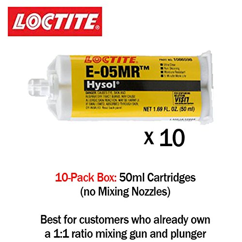 Loctite EA (Hysol) E-05MR Moisture Resistant Fast Setting Crystal Clear Epoxy - 50ml/1.7oz cartridge by Loctite (Image #4)