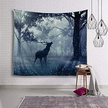 Nordic Moose Tapestry Habitación para niños, sala de estar del dormitorio, pintura para dormitorios