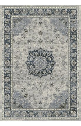 Dynamic Rugs AN69575599686 Ancient Garden Rug, 5.3x7.7, SILVER/BLUE from Dynamic Rugs