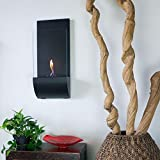Nu-Flame Torcia 11.75 in. Wall-Mount Decorative Bio-Ethanol Fireplace in Matte Black