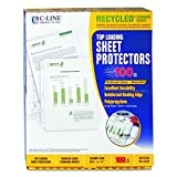 C-line Top Loading Recycled Sheet Protector -Letter 8.50-Inch x11-Inch -Polypropylene -100/Box -Clear
