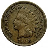 #4: 1908 U.S. Indian Head Cent / Penny Coin